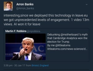 Arron Banks tweet
