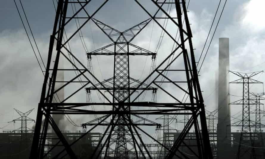 Power lines from Liddell power station near Muswellbrook, north of Sydney, Australia, 2 November 2 2011