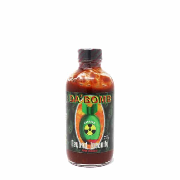 Hotter than hell: Da Bomb's hot sauce.