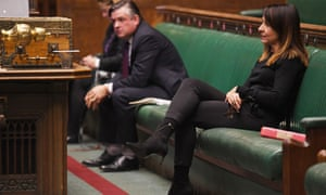 Jonathan Ashworth in the Commons yesterday, with his colleague Liz Kendall.