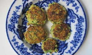 Felicity's perfect courgette fritters.