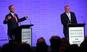 Gulf in views: Scott Morrison and Bill Shorten vie for control of the debate