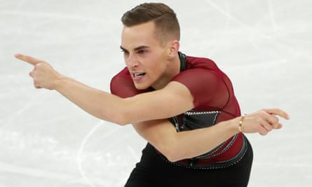 Adam Rippon in the men's single competition in Pyeongchang.