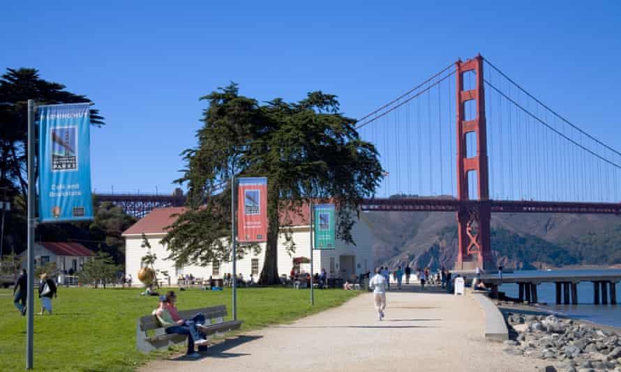 Chrissy Field, San Francisco, California, USA.