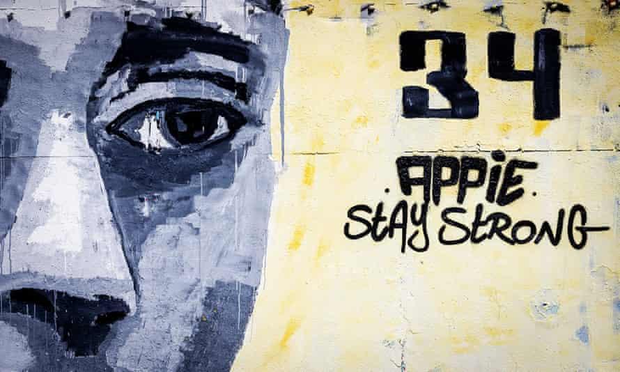 A mural for Abdelhak Nouri in Amsterdam.