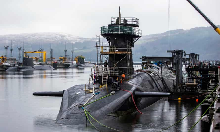 HMS Vigilant, one of the UK's four nuclear warhead-carrying submarines.