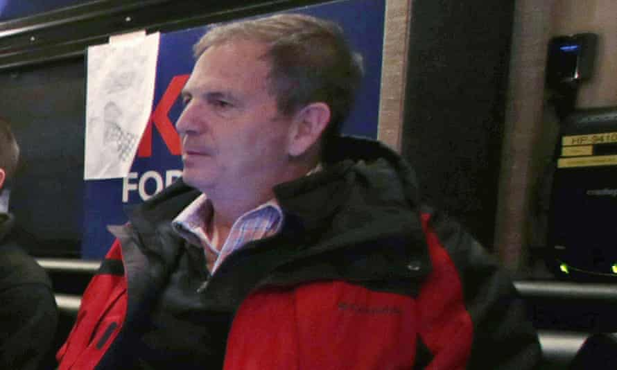 John Weaver on a campaign bus in New Hampshire on 20 Janjuary 2016.