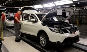 The Nissan plant in Sunderland