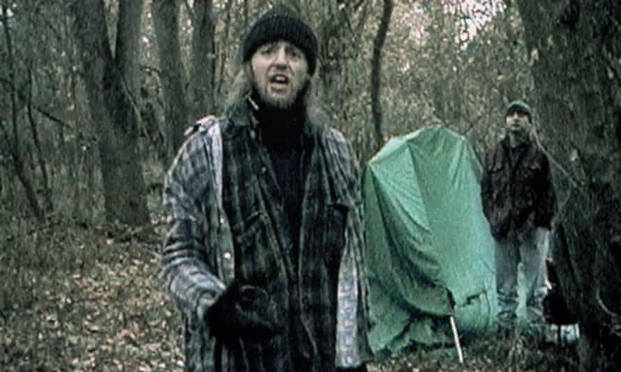 When night falls …Joshua Leonard and Michael Williams in The Blair Witch Project.