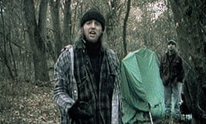 Joshua Leonard and Michael Williams in The Blair Witch Project.