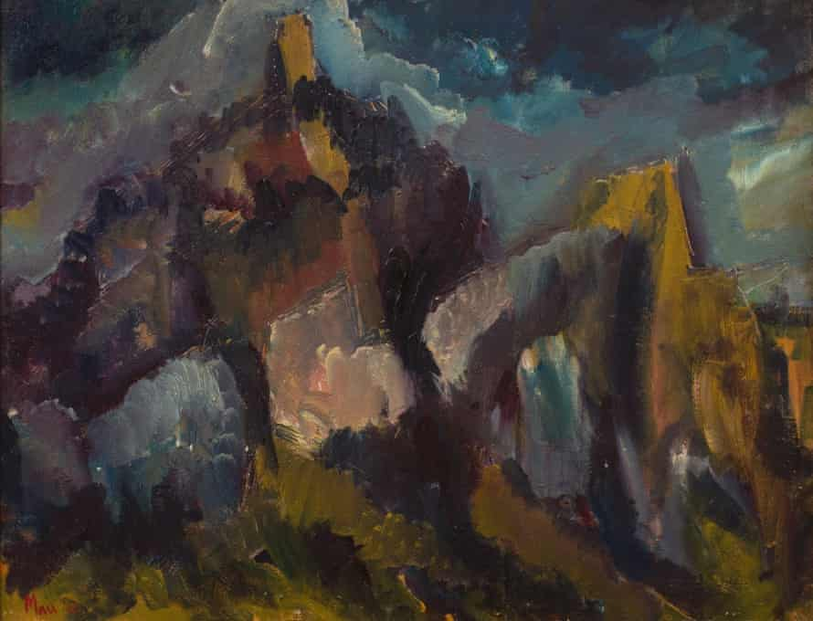 St Hilarion, oil on canvas, painted by Leslie Marr in 1948, the year he was elected secretary of the Borough Group