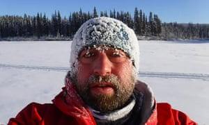 Nick Griffiths taking part in the Yukon Arctic ultra-marathon, which led to him losing three toes to frostbite.
