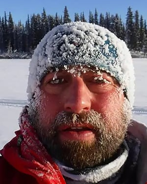 Nick Griffiths, taking part in the Yukon Arctic ultra race. He lost three toes to frostbite.