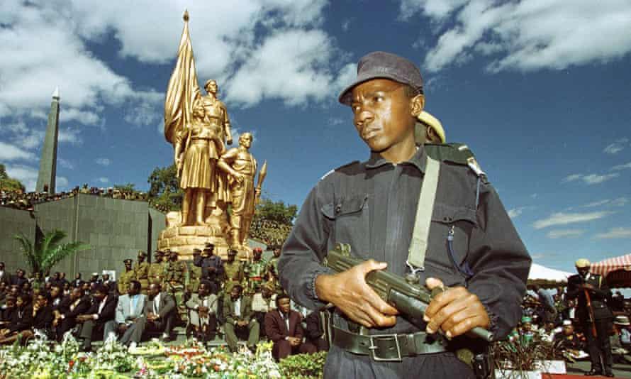 The Heroes Acre shrine, outside Harare.
