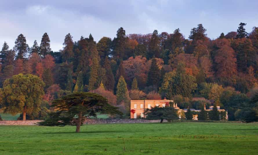 View across the park to the house at Killerton, Devon, in September.