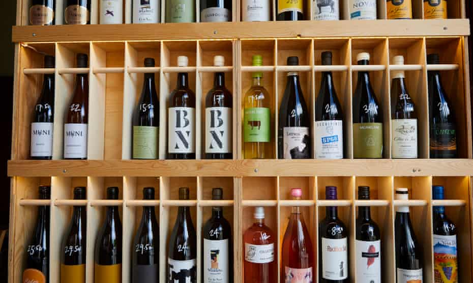 Natural wines at The Reliance bar in Leeds.