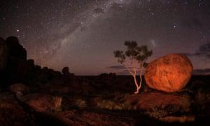 Milky Way over the Karlu Karlu (Devil's Marbles) Conservation Reserve. Northern Territory. Australia.