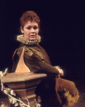 Judi Dench as Viola in John Barton's production of Twelfth Night, 1969.