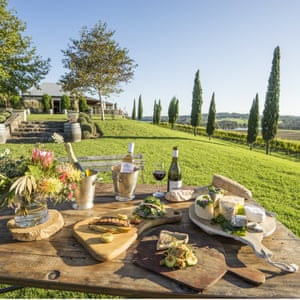 Food and wine available to enjoy on the scenic grounds of Cupitt's Restaurant, Winery, Brewery and Fromagerie, Ulladulla.