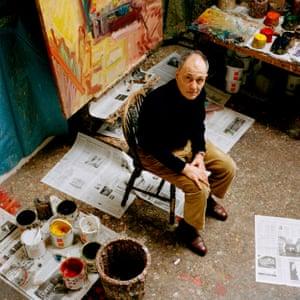 Frank Auerbach in his Camden studio.