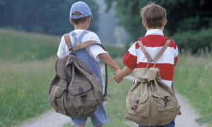 There have been reports in Britain and Ireland of spinal abnormalities and scoliosis among children carrying heavy loads.