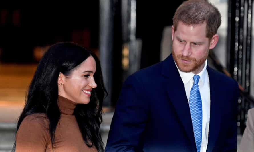 The Duchess of Sussex with her husband, Prince Harry, in London last year.