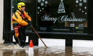 A flooded business in York, England, December 2015