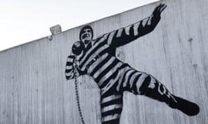 A mural in the Halden Fengsel prison courtyard in Norway.