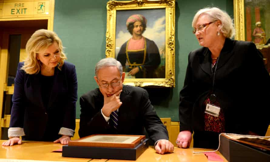 Sara and Benjamin Netanyahu visit the British Museum in 2015.