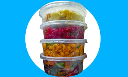 overflowing plastic containers