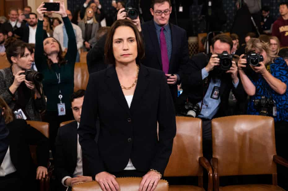 Fiona Hill appeared on Thursday to give her testimony. Congresswoman Jackie Speier said to Hill: 'You speak truth, that you are steely, and I truly respect that.'