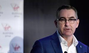 Virgin Australia CEO Paul Scurrah addressing shareholders in November 2019.