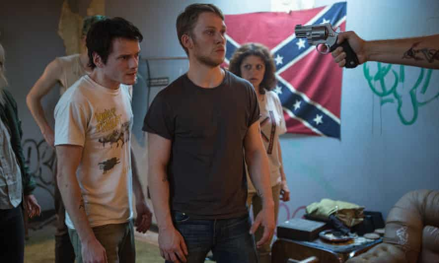 'A gruelling, gutsy suspense ride': Anton Yelchin and Joe Cole in Green Room.