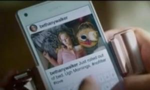 'Bethany's' Insta feed in the movie.
