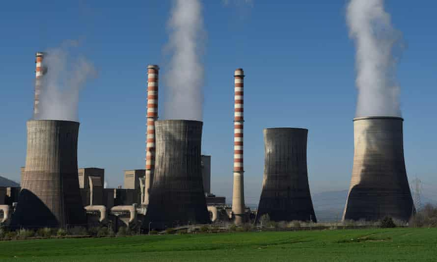 A coal-fired power station near the town of Ptolemaida in northern Greece