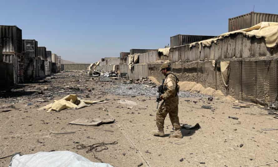 Taliban special forces show journalists around the abandoned compound.