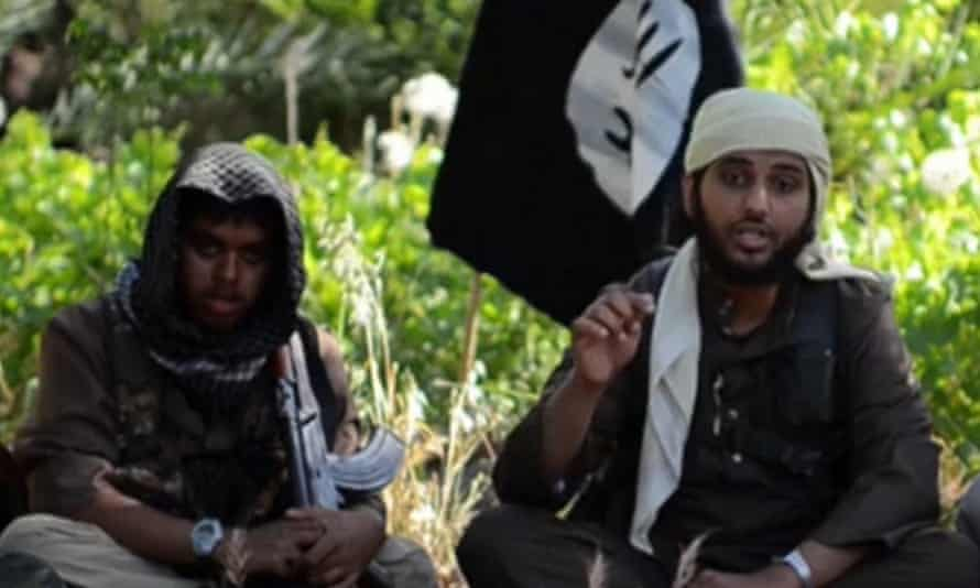 Reyaad Khan and Nasser Muthana British Islamic State fighters in Syria, August 2014.
