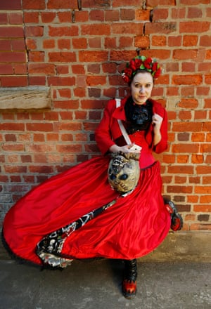 Louise Briggs from Lincoln who loves the colour red and loves skulls. She has been a Goth since school but has recently become more interested in Victoriana
