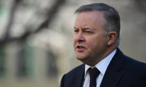Labor's Anthony Albanese at Parliament House in Canberra.