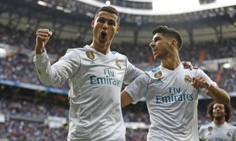 European roundup: Cristiano Ronaldo at the double as Real Madrid thrash Sevilla