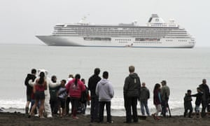 Historic Arctic Cruise, Crystal SerenityThe luxury cruise ship Crystal Serenity, which became the largest cruise ship to ever go through the Northwest Passage in the Bering Sea.