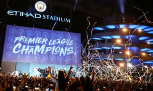 Manchester City's Etihad Stadium during Premier League title celebrations this week.