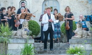 William Christie and musicians in his garden at Thiré in the Vendée.