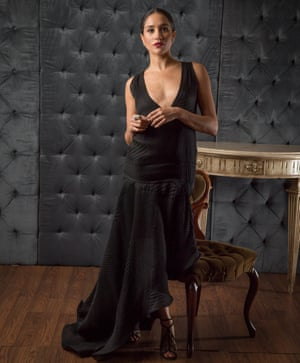 Actor Meghan Markle, Prince Harry's girlfriend.