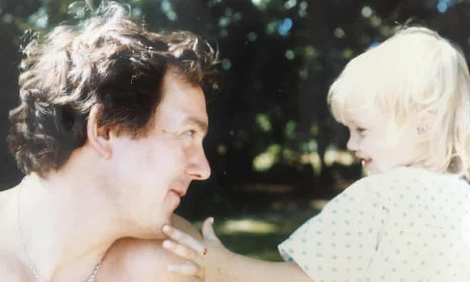 Xanthi Barker as a child with her father, the poet Sebastian Barker