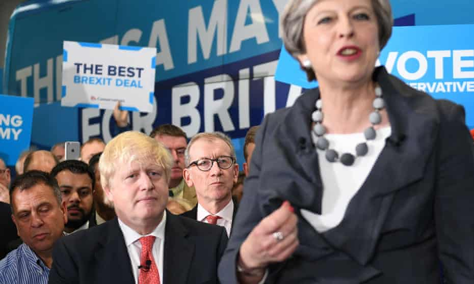 Theresa May speaking at a rally in Slough two days before the general election.