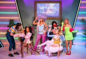 London, UKMembers of staff put the finishing touches to the Little Mix wax figures at Madame Tussauds