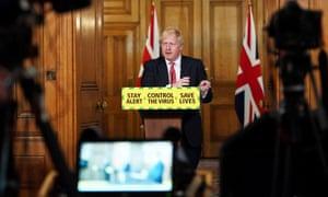 Boris Johnson at coronavirus press conference