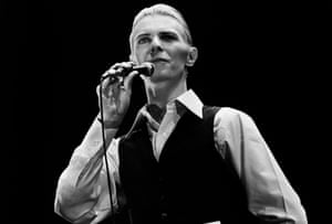 David Bowie performs live at Ahoy, Rotterdam on on the final leg of his 1976 Thin White Duke World Tour