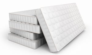 mattresses isolated on white